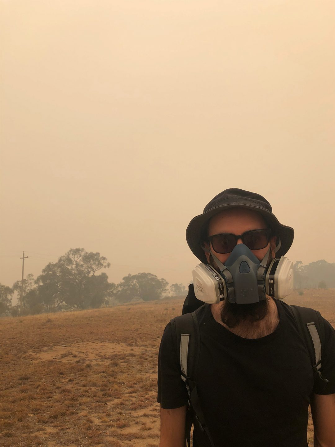 Man in protective face mask