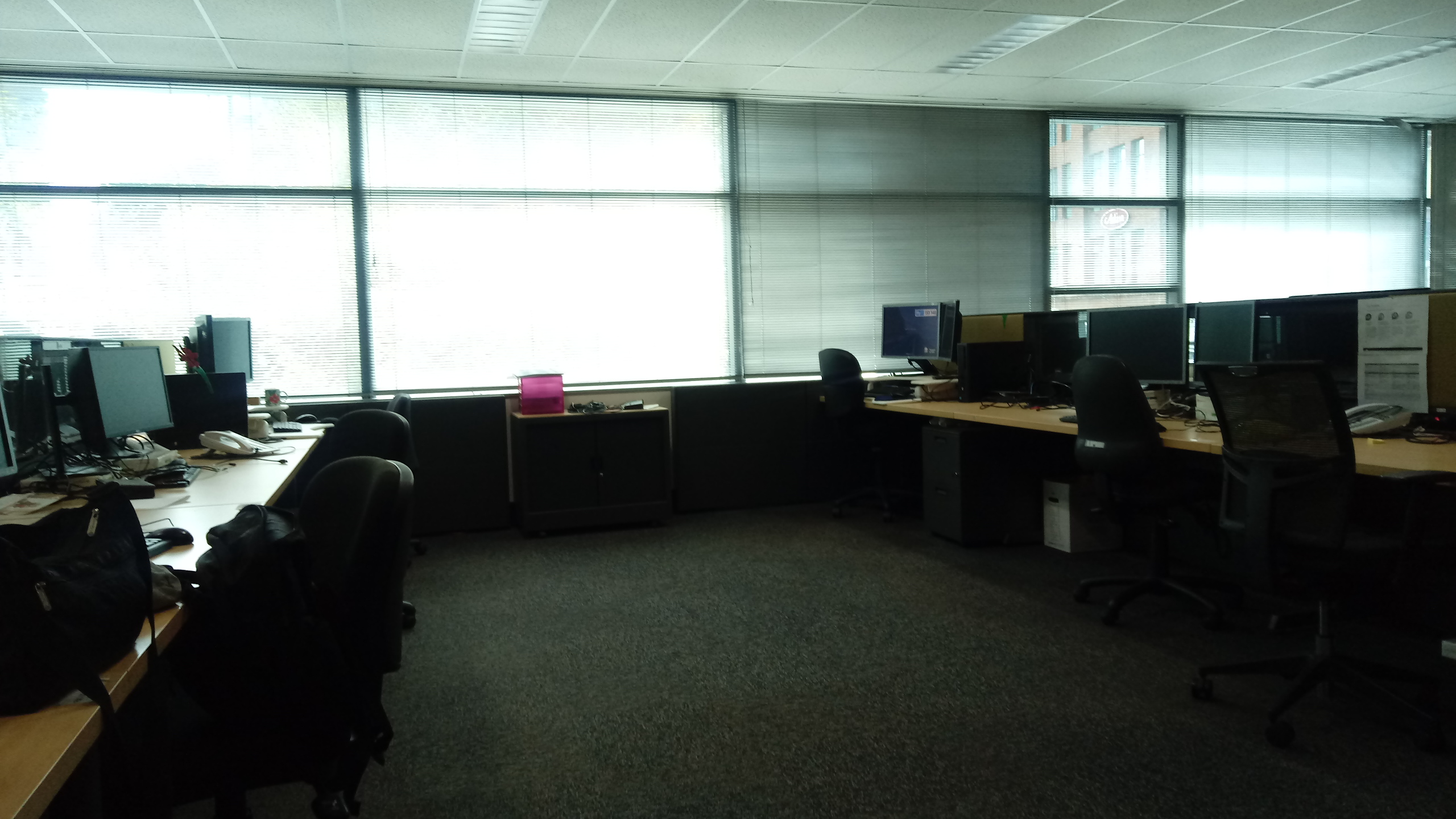 A photo of an empty office